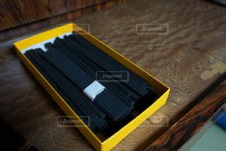 木製テーブルの写真・画像素材[716382]