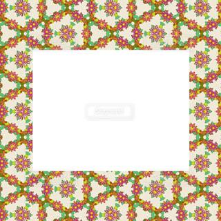 花のリースのレトロ風カードの写真・画像素材[953710]