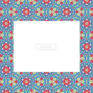 花の模様のレトロ風カードの写真・画像素材[953717]