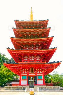 大きな赤い建物の写真・画像素材[863062]