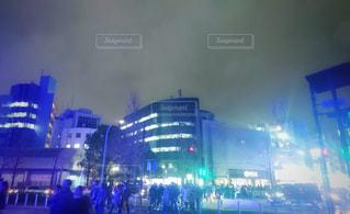 冬の夜の渋谷の写真・画像素材[863090]