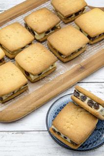 バターサンドクッキーの写真・画像素材[1861500]