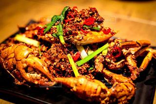 上海蟹の辛味揚げの写真・画像素材[2352186]