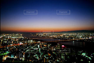 空中庭園からの夜景の写真・画像素材[702470]