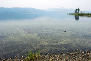 幻想的に霞んだ湖の写真・画像素材[717118]