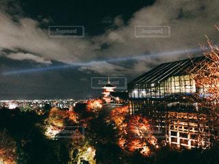 京都の夜景と清水寺の写真・画像素材[886087]