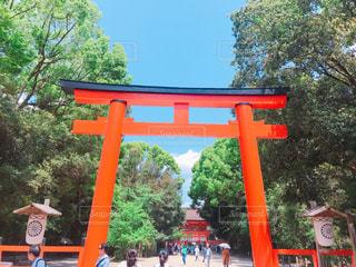 下鴨神社の立派な鳥居の写真・画像素材[2090214]