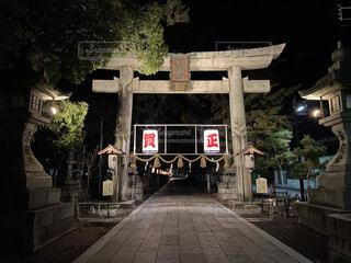 大晦日の神社の写真・画像素材[2855751]