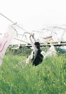 緑の草原の人の写真・画像素材[1285624]