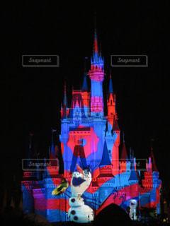 城の夜間ライトアップの写真・画像素材[991668]