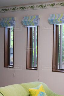 緑の塗られた部屋と寝室の写真・画像素材[1287885]