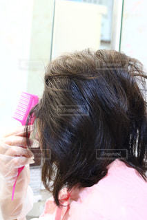 取って、selfie ピンクの髪を持つ人の写真・画像素材[1734798]