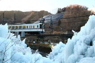 雪に覆われた鉄道の写真・画像素材[1755040]
