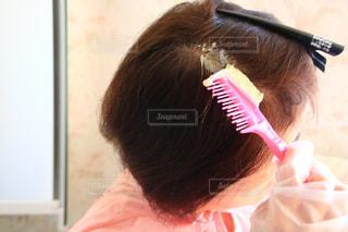 歯を磨く女性の写真・画像素材[3076978]