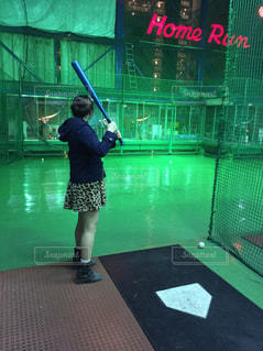 少女,野球,デート,一生懸命,バッティングセンター,baseball,バット,バッティング,date