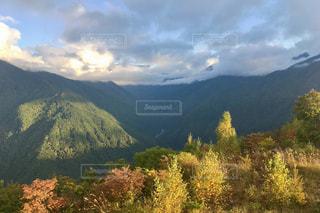緑豊かな丘の中腹に緑のビューの写真・画像素材[805250]