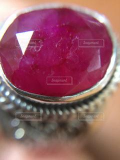 ピンク   ルビー   リング   アクセサリー  パワーストーンの写真・画像素材[300460]