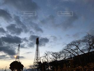 空には雲のグループの写真・画像素材[991983]
