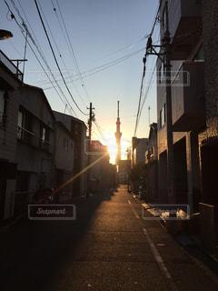 東京下町のお散歩の写真・画像素材[439641]