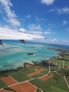 空からの海の眺めの写真・画像素材[1396176]