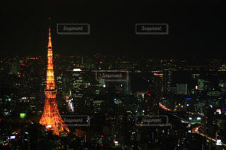 夜の東京タワーの写真・画像素材[1124344]