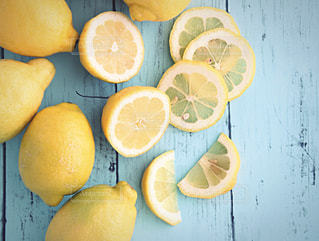 カットレモンの写真・画像素材[1411920]