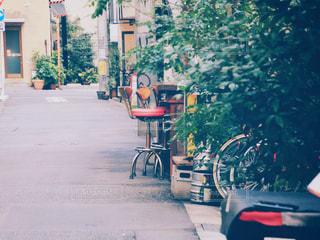 都会の路地裏の写真・画像素材[1641973]