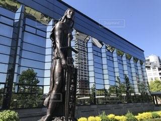 福岡市博物館前の銅像の写真・画像素材[1205438]