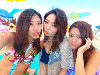 水着の女性3人 - No.751764