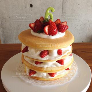 ハーフバースデー・ケーキの写真・画像素材[312368]