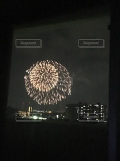 花火  自宅の写真・画像素材[304999]