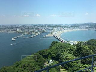 江ノ島から見た湘南の海の写真・画像素材[1395320]