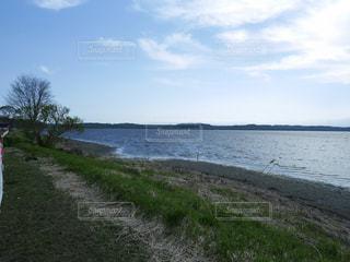 水面輝くクッチャロ湖の写真・画像素材[1413906]