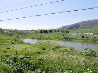 天塩川を眺めるの写真・画像素材[1413918]