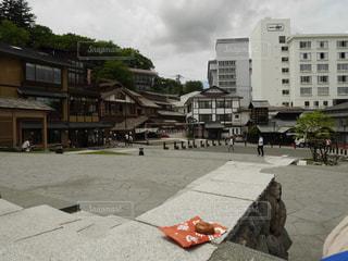 草津温泉で休憩の写真・画像素材[1414676]
