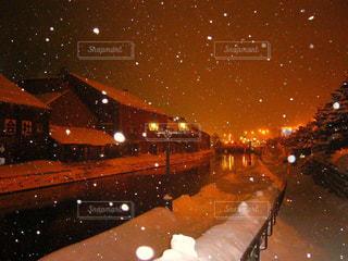 冬の小樽運河の写真・画像素材[1612914]