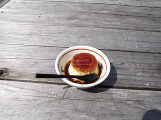 別府名物 地獄蒸しのプリンの写真・画像素材[1675977]