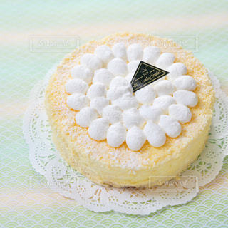 ダブルチーズケーキの写真・画像素材[2215038]