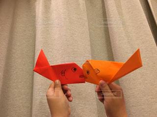 魚,キス,折り紙
