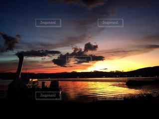 湖と夕焼け - No.761691