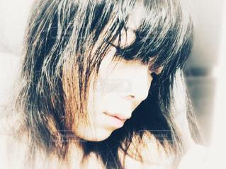 洗い髪の写真・画像素材[915705]