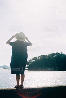 テトラポット登って♩の写真・画像素材[1061043]