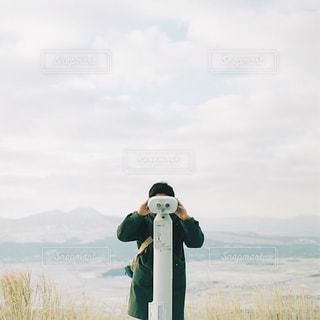 雪どけの阿蘇の写真・画像素材[1792032]