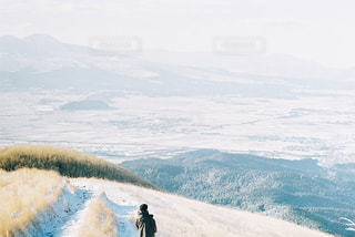 阿蘇の雪景色の写真・画像素材[1792048]