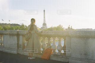 セーヌ川とエッフェル塔の写真・画像素材[3014489]