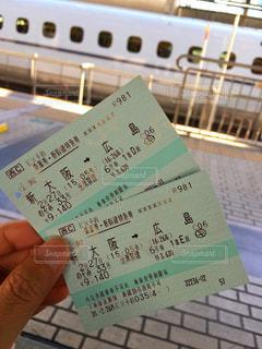 新幹線の切符の写真・画像素材[1031757]