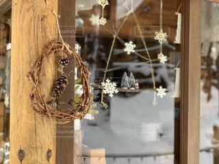 クリスマスリースの写真・画像素材[1670881]