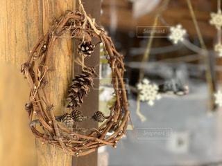 クリスマスリースの写真・画像素材[1670882]