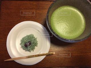 お茶菓子とお抹茶の写真・画像素材[312438]
