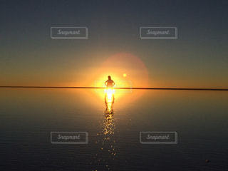 ウユニ塩湖の写真・画像素材[313181]